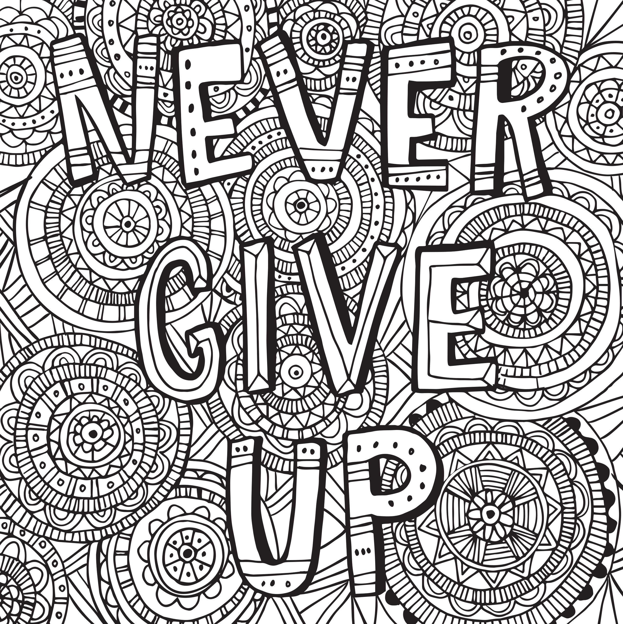 Inspirational Quotes Coloring Pages For Adults : Adult coloring pages inspirational just colorings