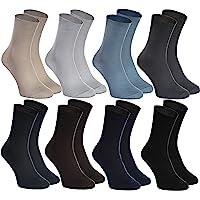 Rainbow Socks - Hombre Mujer Calcetines Diabéticos Sin Elasticos - 8 Pares