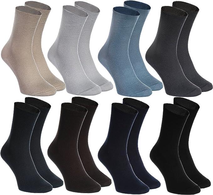 Rainbow Socks - Hombre Mujer Calcetines Diabéticos Sin Elasticos - 8 Pares: Amazon.es: Ropa y accesorios