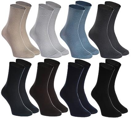 05b9f84618097 8 pairs of NON-BINDING Socks for DIABETICS by Rainbow Socks - Health COTTON  Loose