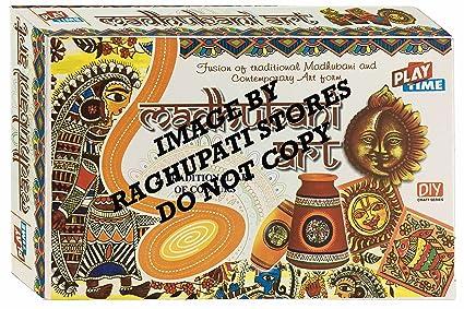 Buy madhubani art game for kids craft kits do it yourself drawing madhubani art game for kids craft kits do it yourself drawing painting kit solutioingenieria Image collections