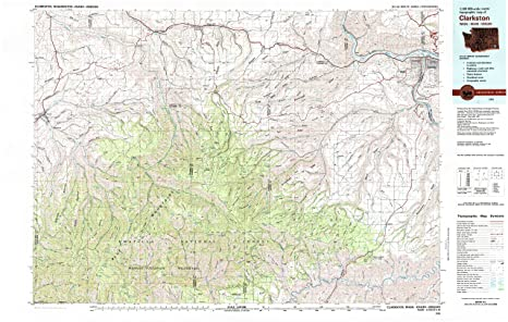 Amazon Com Yellowmaps Clarkston Wa Topo Map 1 100000 Scale 30 X