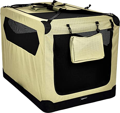 Basics Gris Transport/ín para mascotas abatible transportable y suave de gran calidad 66 cm