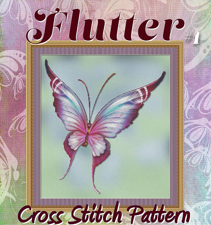 Butterfly Golden Pumpkin Vintage Sign ~ DIY Counted Cross Stitch Pattern