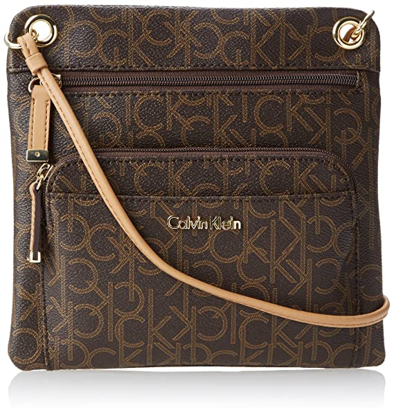 Calvin Klein Key Item Monogram Crossbody, Brown/Khaki/Camel ...