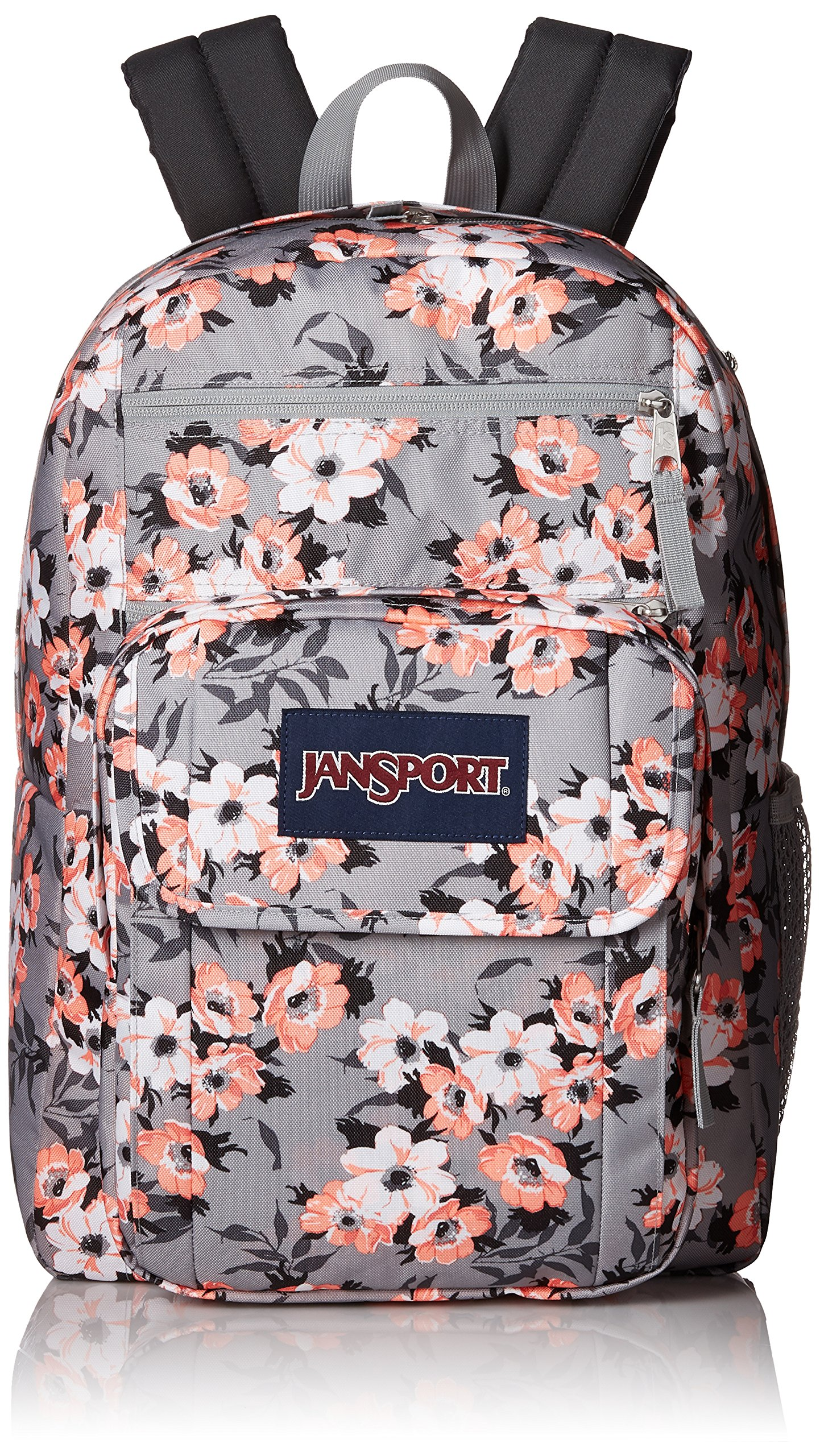 JanSport Digital Student Laptop Backpack- Sale Colors (Coral Sparkle Pretty