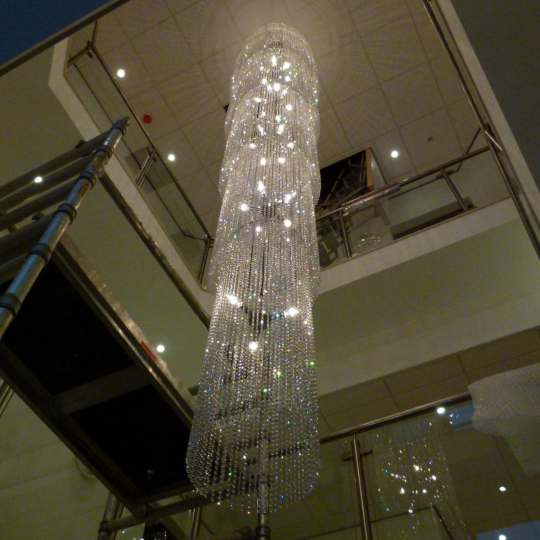Custom 5m chrome crystal glass chandelier chandlier chandalier custom 5m chrome crystal glass chandelier chandlier chandalier ceiling light lamp bespoke chandelierideal for lending foyer stairwell ect arubaitofo Images