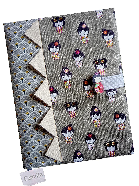 Cadeau de Naissance - Protège-Carnet de Santé personnalisé - Kimono Sackcloth Sally