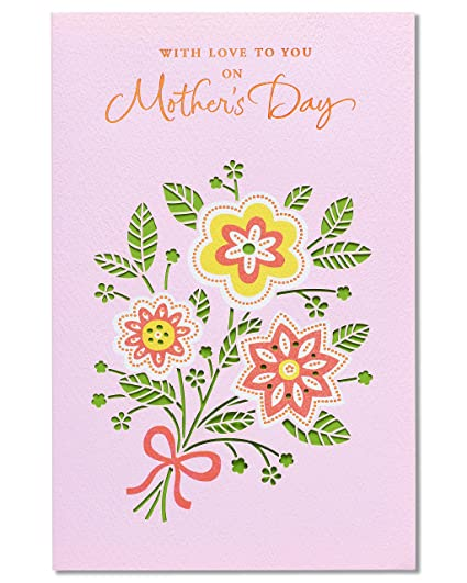 Amazon Com American Greetings Floral Bouquet Mother S Day Card