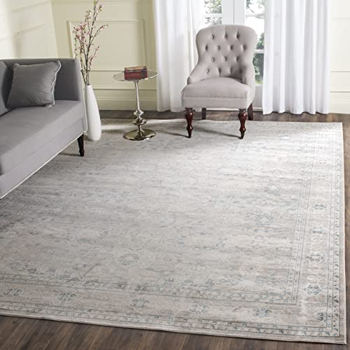 Safavieh Archive Collection ARC670A Vintage Grey and Blue Distressed Area Rug 5 1 x 7 6