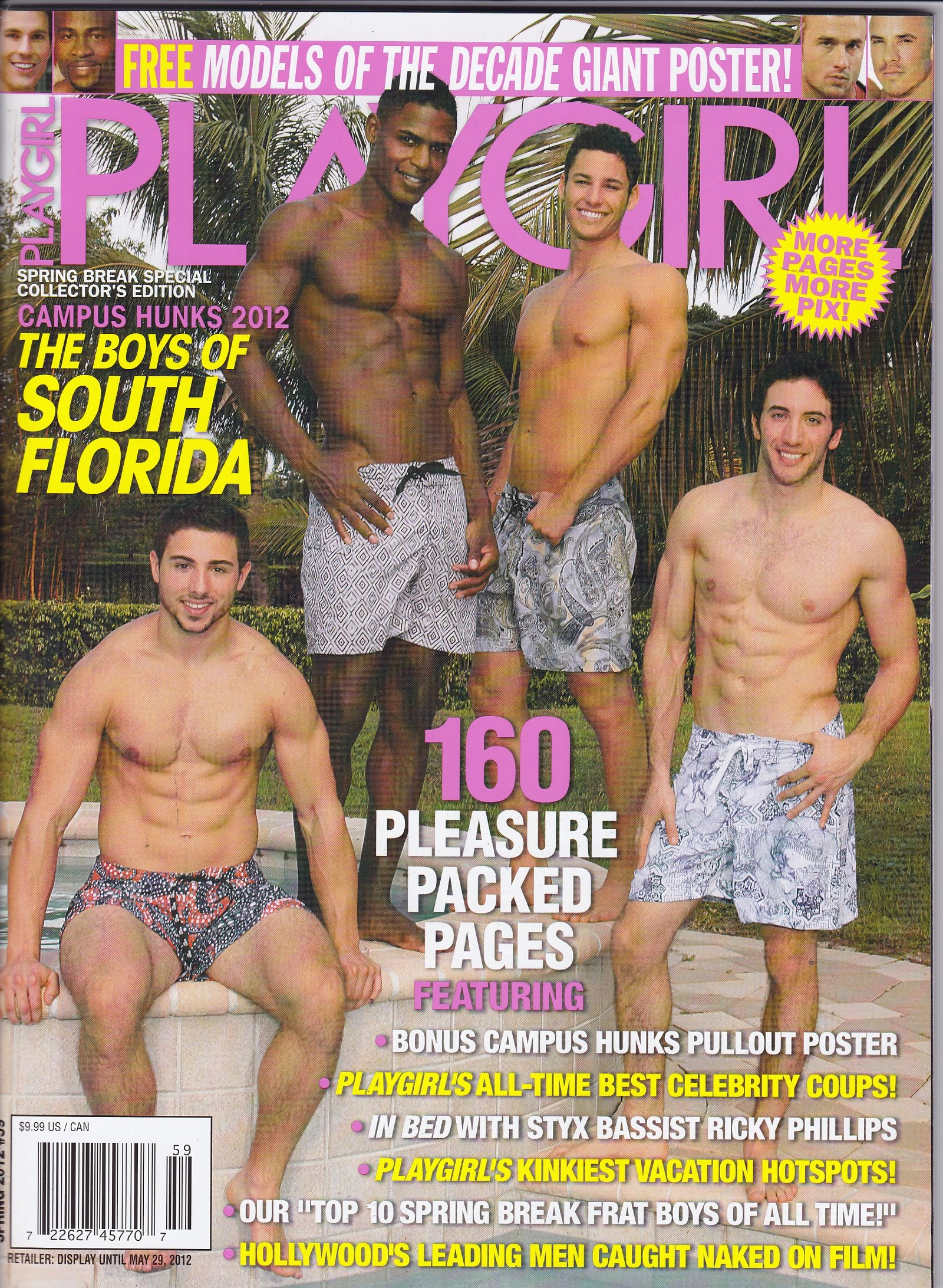 Read Online Playgirl Magazine - Spring 2012 - Boys of South Florida - Special Issue - 160 Pages with Bonus Poster - Factory Sealed Newsstand Edition (No Address Label) pdf epub