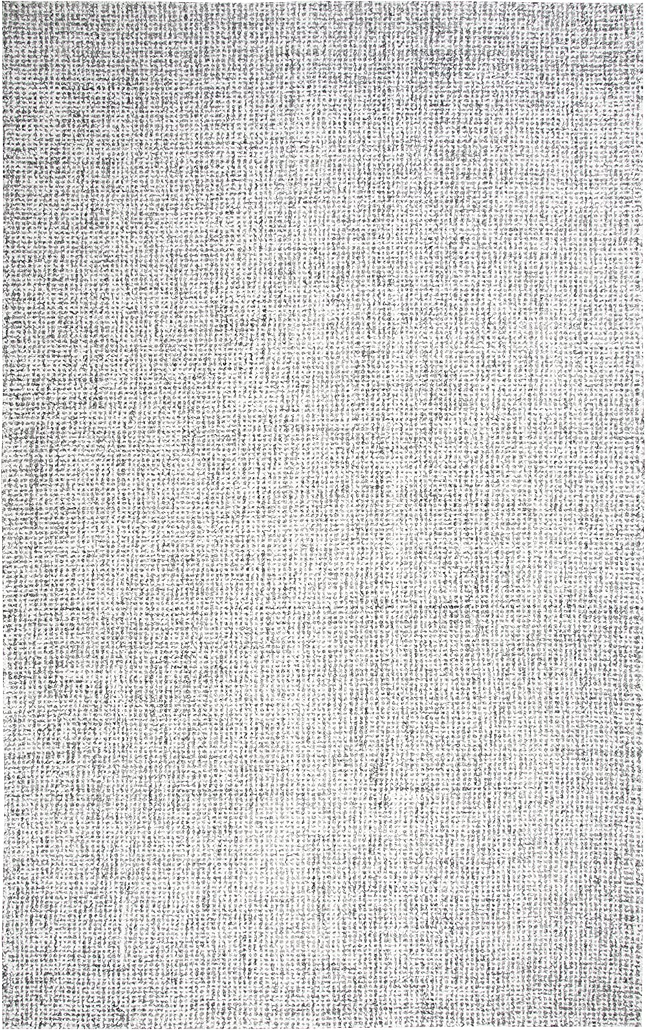 """Rizzy Home Brindleton Collection Wool Area Rug, 2'6"""" x 10', Gray/Gray/Rust/Blue Solid"""