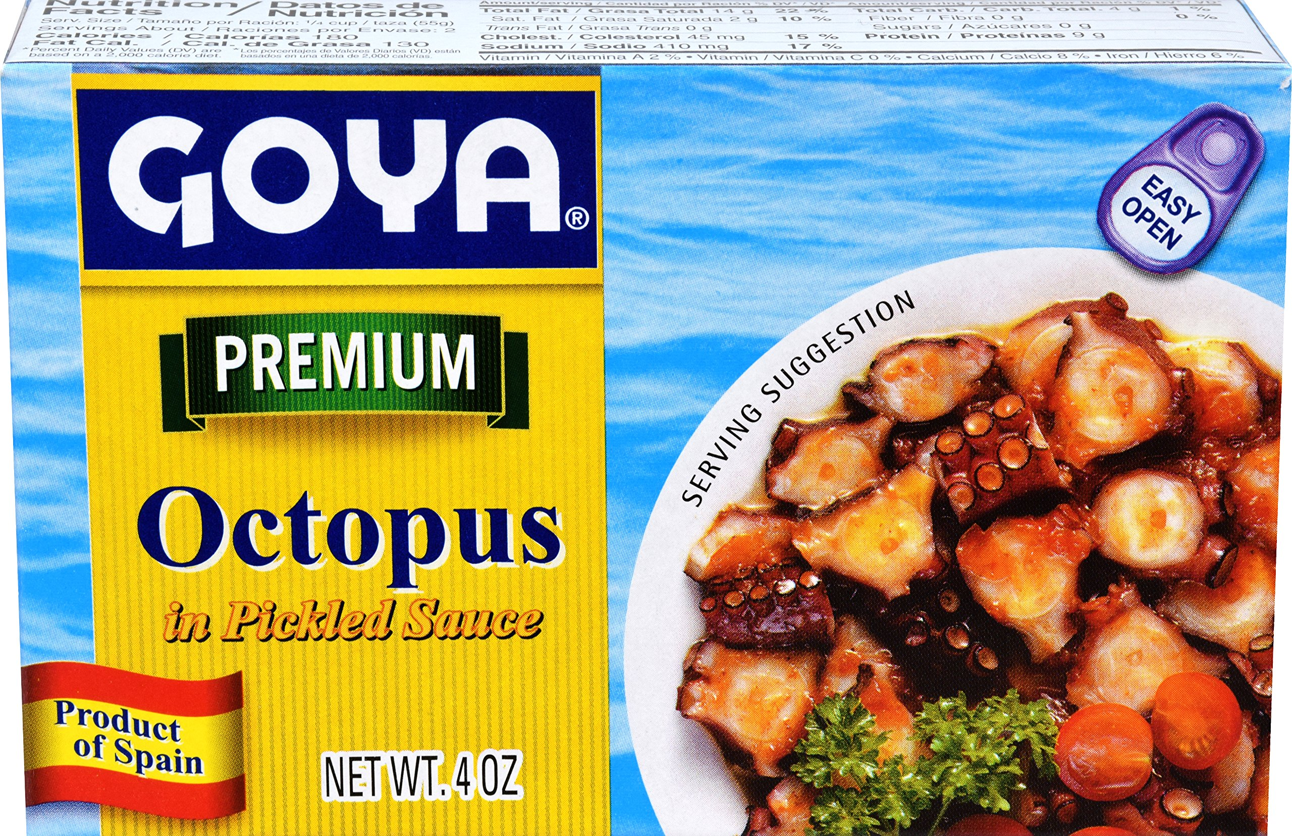 Goya Foods Octopus in Sauce (Pulpo a la Marinera), 4-Ounce (Pack of 25)