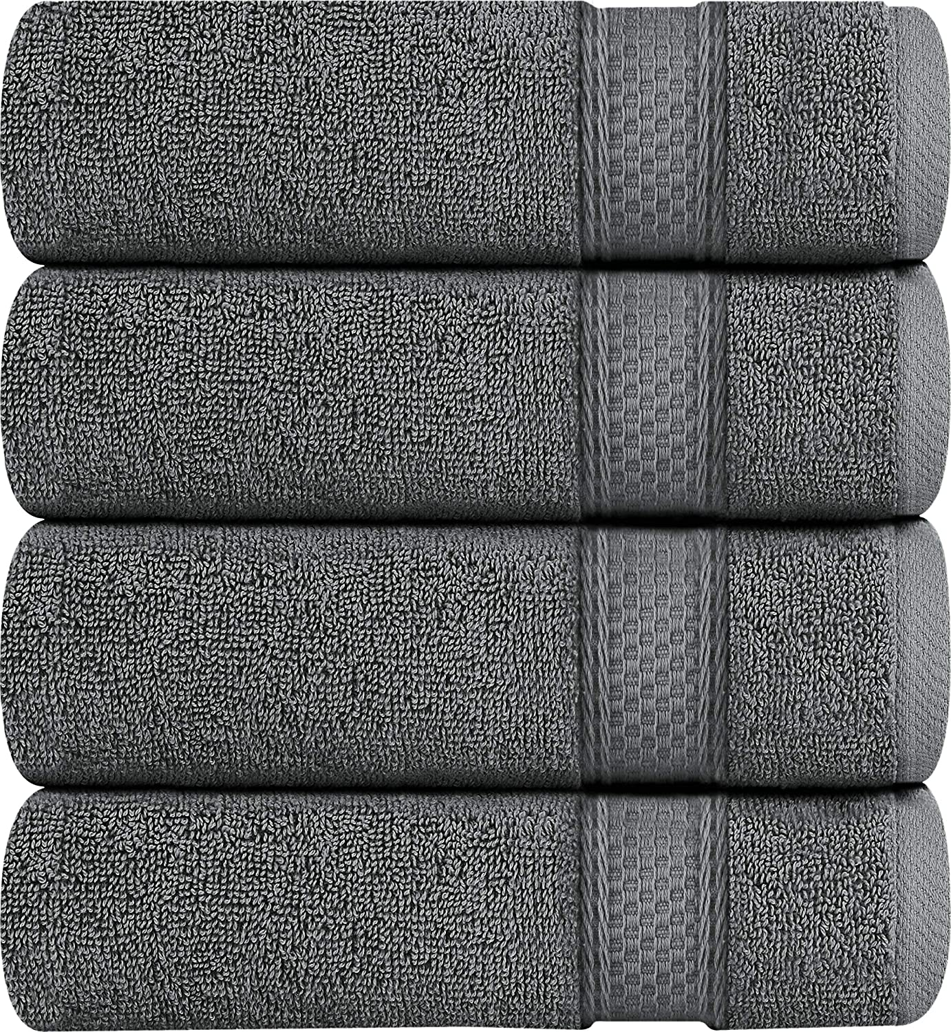 Utopia Towels Luxury Bath Towels, 4 Pack, 27x54 Inch, 700 GSM Hotel Towels, Dark Grey