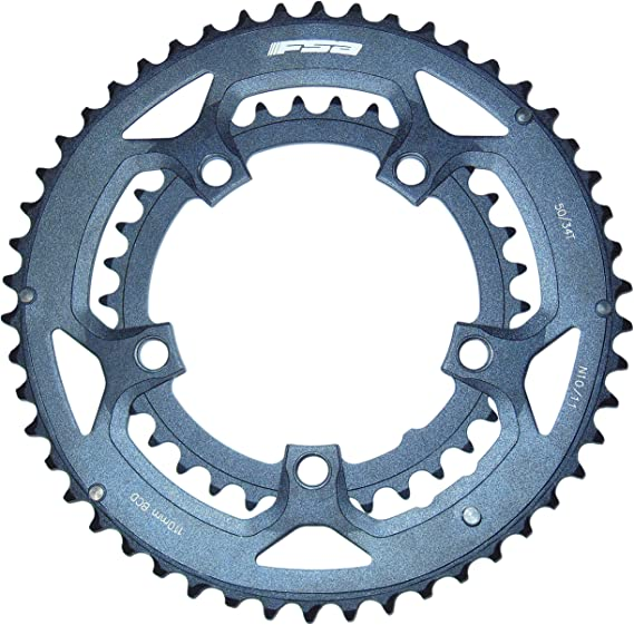 FSA Chainring Road Bike 50T 34T 110BCD Alloy Black CNC 9 Speed Shimano Fit
