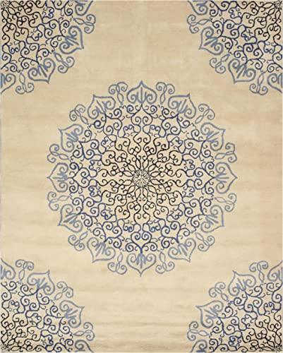EORC T118BL Hand Tufted Wool Modern Naiin Rug