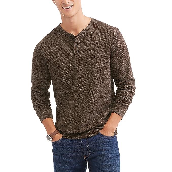 4c54feb4 Faded Glory Men's Long Sleeve Waffle Thermal Henley Top / Shirt - TALL (LT-