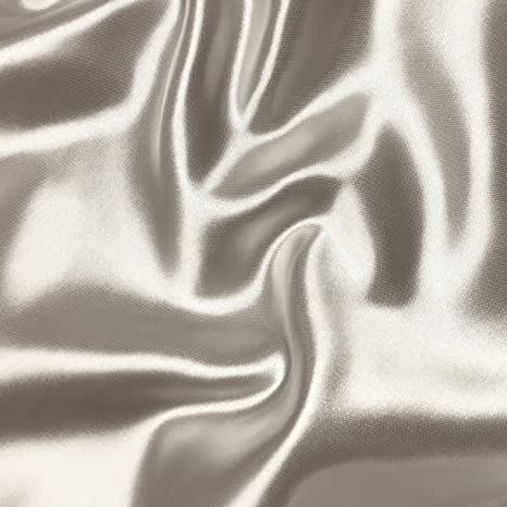"25 Yards 60/"" white Satin Fabric shiny Draping Wedding Dress Decoration Sash"