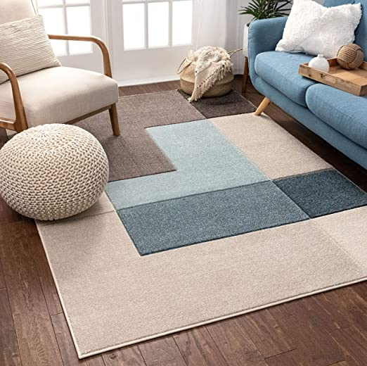 Well Woven Connie Multi Modern Geometric Boxes Pattern Area Rug 5x7 5 3 X 7 3 Kitchen Dining