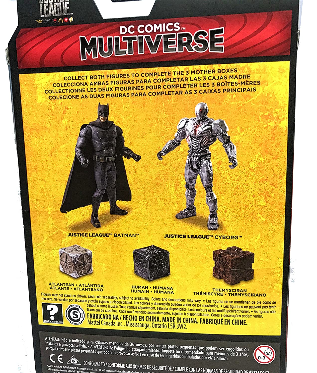 Amazon.com: DC Comics Multiverse Justice League Batman, Cyborg 2 Pack Action Figures: Toys & Games