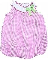 4b7f8343f8b0 RARE EDITIONS Baby Girls Fuchsia Checkered Seersucker Bubble Romper