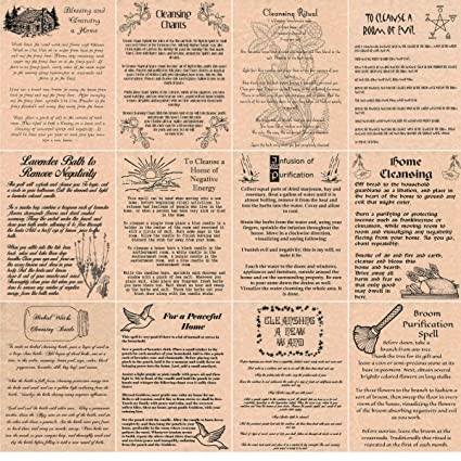 Book of Shadows Spells Pages, Set of 12 Cleansing Spells, Wicca, Witchcraft  (Copper)