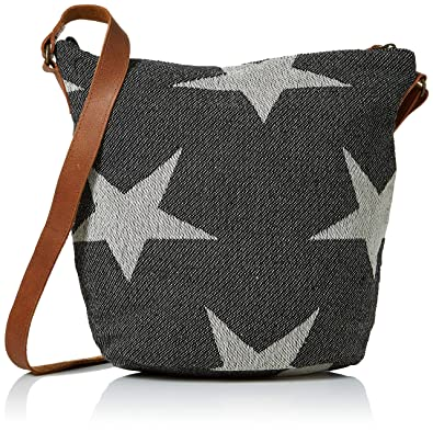 67ae1cfa390 Fat Face Women's Woven Star Tia Cross-Body Bag Black (Black): Amazon ...