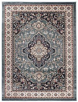 Carpeto Rugs Tapis Salon Bleu 160 x 220 cm Oriental/Ayla Collection