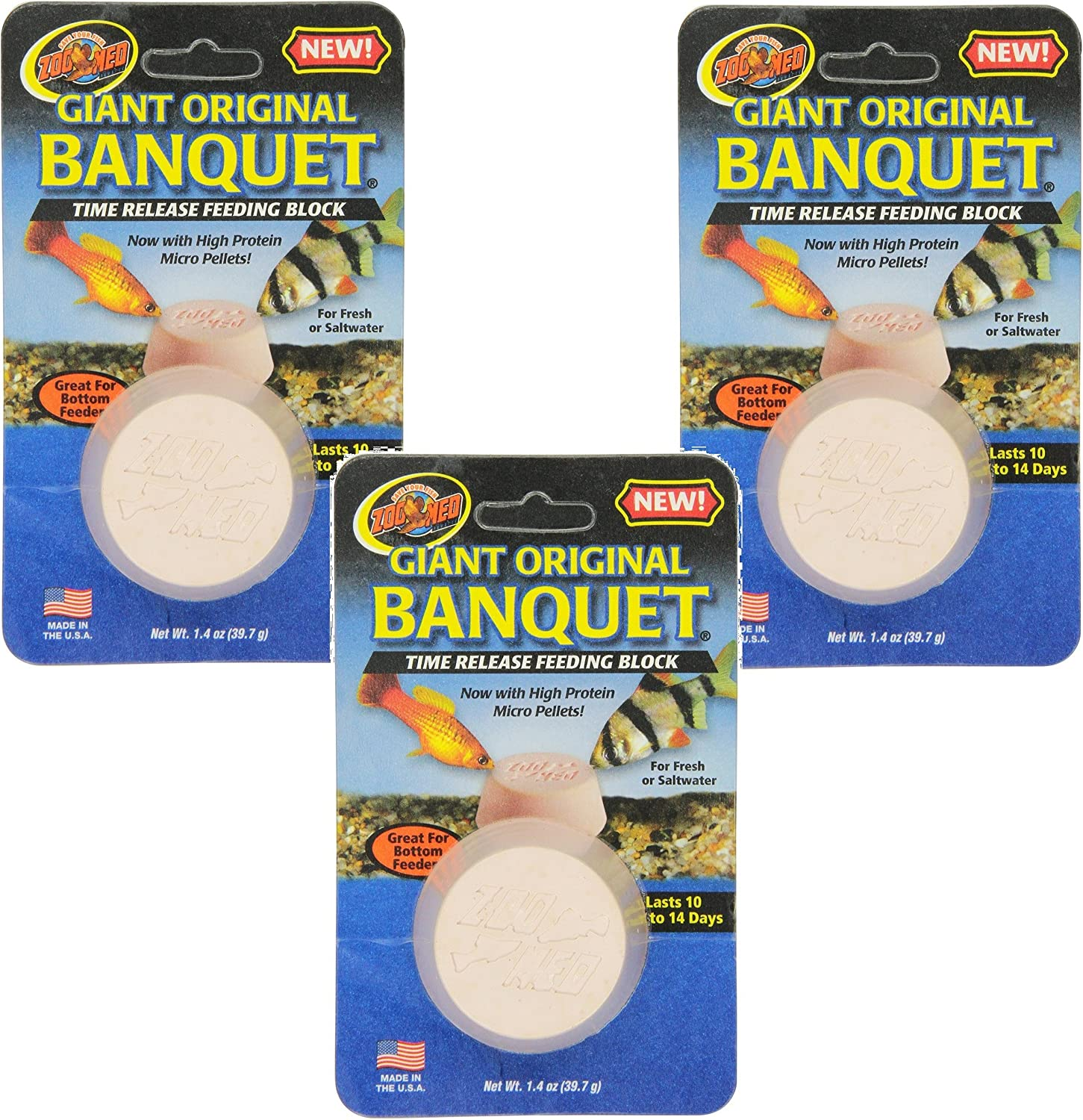 Zoo Med Laboratories Giant Banquet Block Feeder (3 Pack)