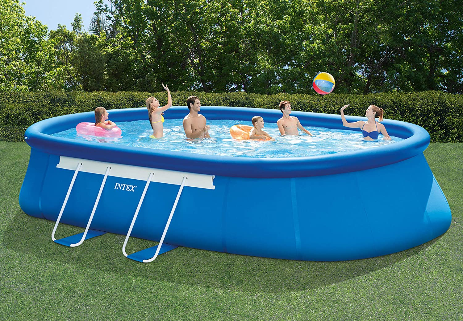 Intex Frame Pool Set - Piscina, Azul, 610 x 366 x 122 cm: Amazon ...