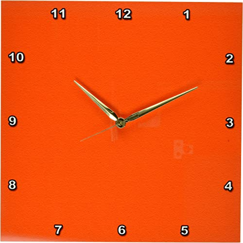 3dRose dpp_30652_2 Bold Orange-Wall Clock, 13 by 13-Inch