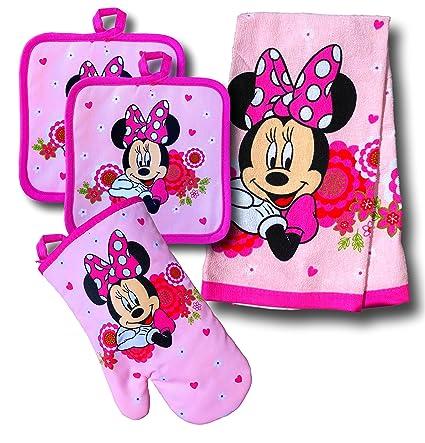 Amazon Com Disney Mickey Mouse Minnie Mouse 4 Piece Kitchen Set