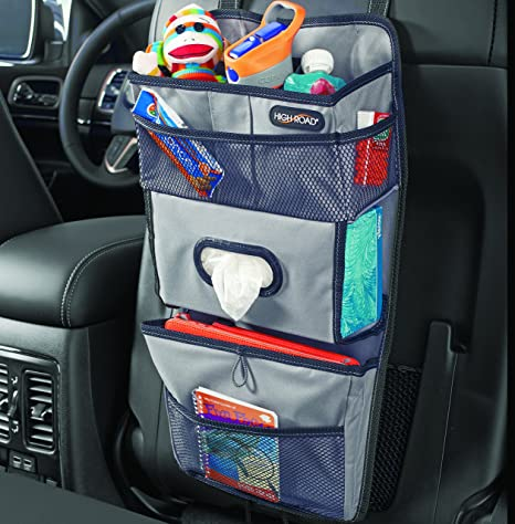 High Road TissuePockets Car Seat Organizer And Tissue Holder Gray