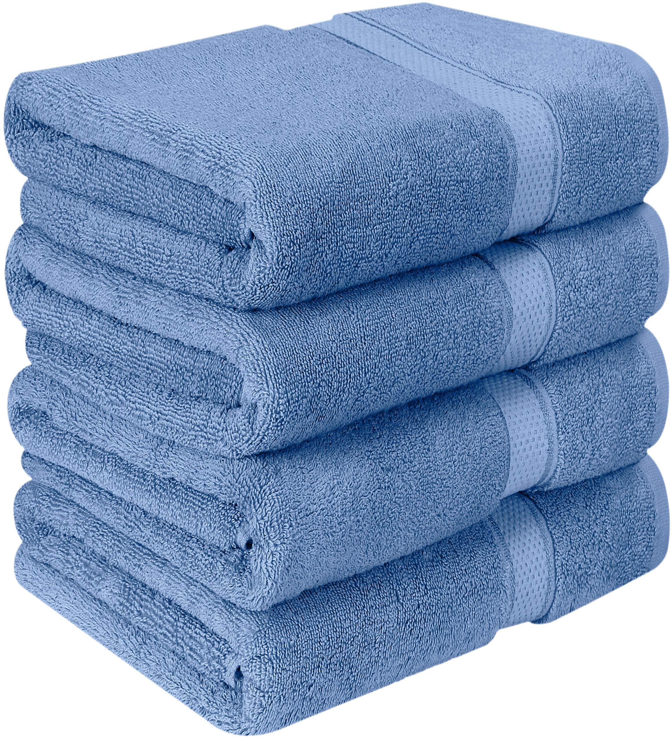 Utopia Towels Luxurious Bath Towels, 4 Pack, Wedgewood