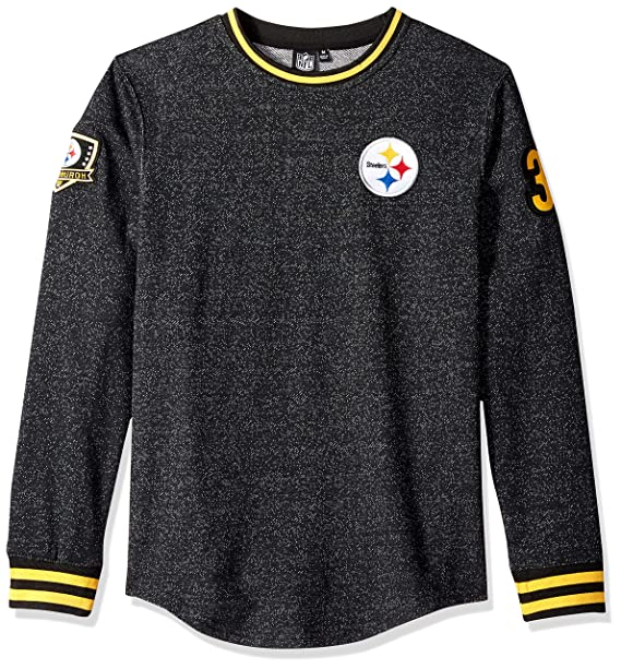 the best attitude 3a937 264e6 Ultra Game NFL Pittsburgh Steelers Men's Fleece Sweatshirt Long Sleeve  Shirt Rib Stripe, Team Color, Black, Large