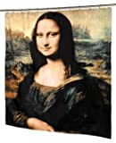 "Carnation Home Fashions ""Mona Lisa Fabric Shower Curtain"