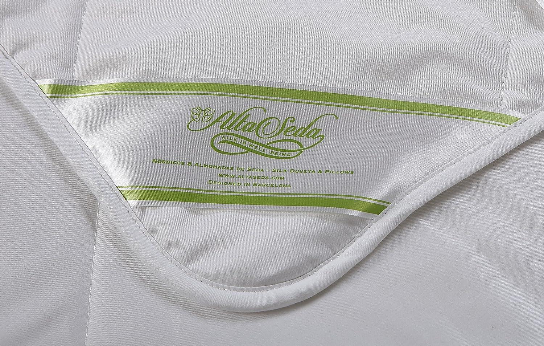 Cubre colchón Relleno Seda natural 100 gr/m2, Exterior Algodón 100% para cama 150 cm, Med. 150cmx190cm: Amazon.es: Hogar