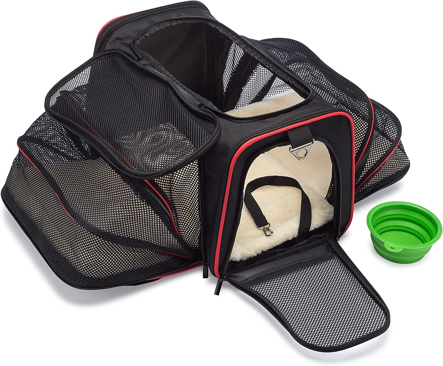 mypal Expandable Soft Pet Carrier, Airline Approved Carrier for Easy Carry On Luggage. for Small Dogs, Puppies, Cats, Kittens, and More