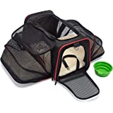 mypal Expandable Soft Pet Carrier, Airline Approved Carrier For Easy Carry On Luggage. For Small DOGS, PUPPIES, CATS, KITTENS, And More!