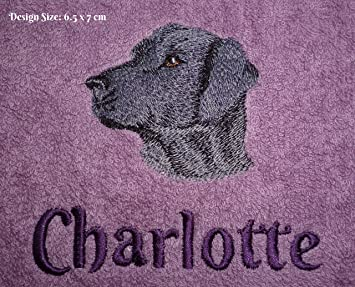 573f008c754a Black Labrador Design (317) - Embroidered Personalised Fleece Dog ...