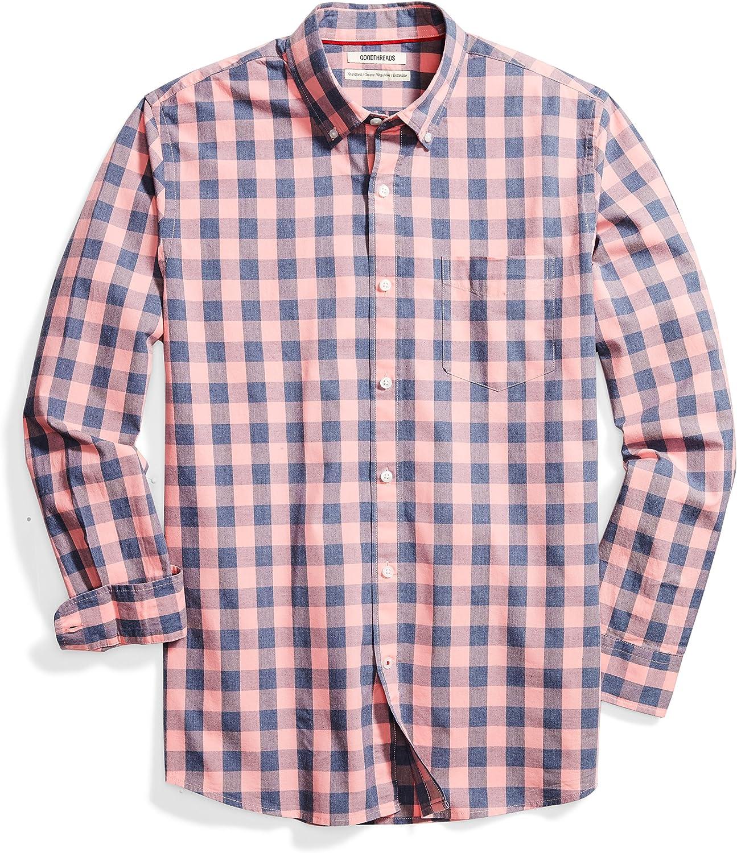 Amazon Brand - Goodthreads Standard-Fit Long-Sleeve Plaid Poplin Shirt