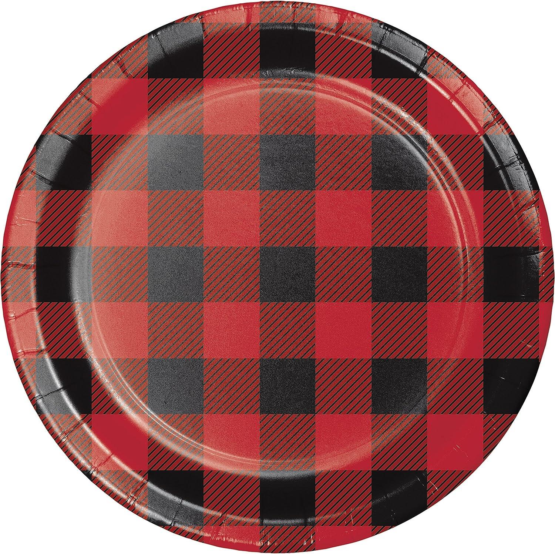 Buffalo Plaid Dessert Plates, 24 ct