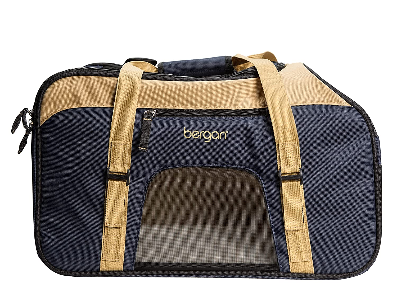 Bergan Comfort Carrier, Large Top Loading, Navy and Sand