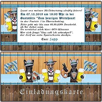Einladungskarten Zum Oktoberfest Geburtstag Byrische Motto Party O Zapt Is  Hüttengaudi Feier Jubiläum Hund