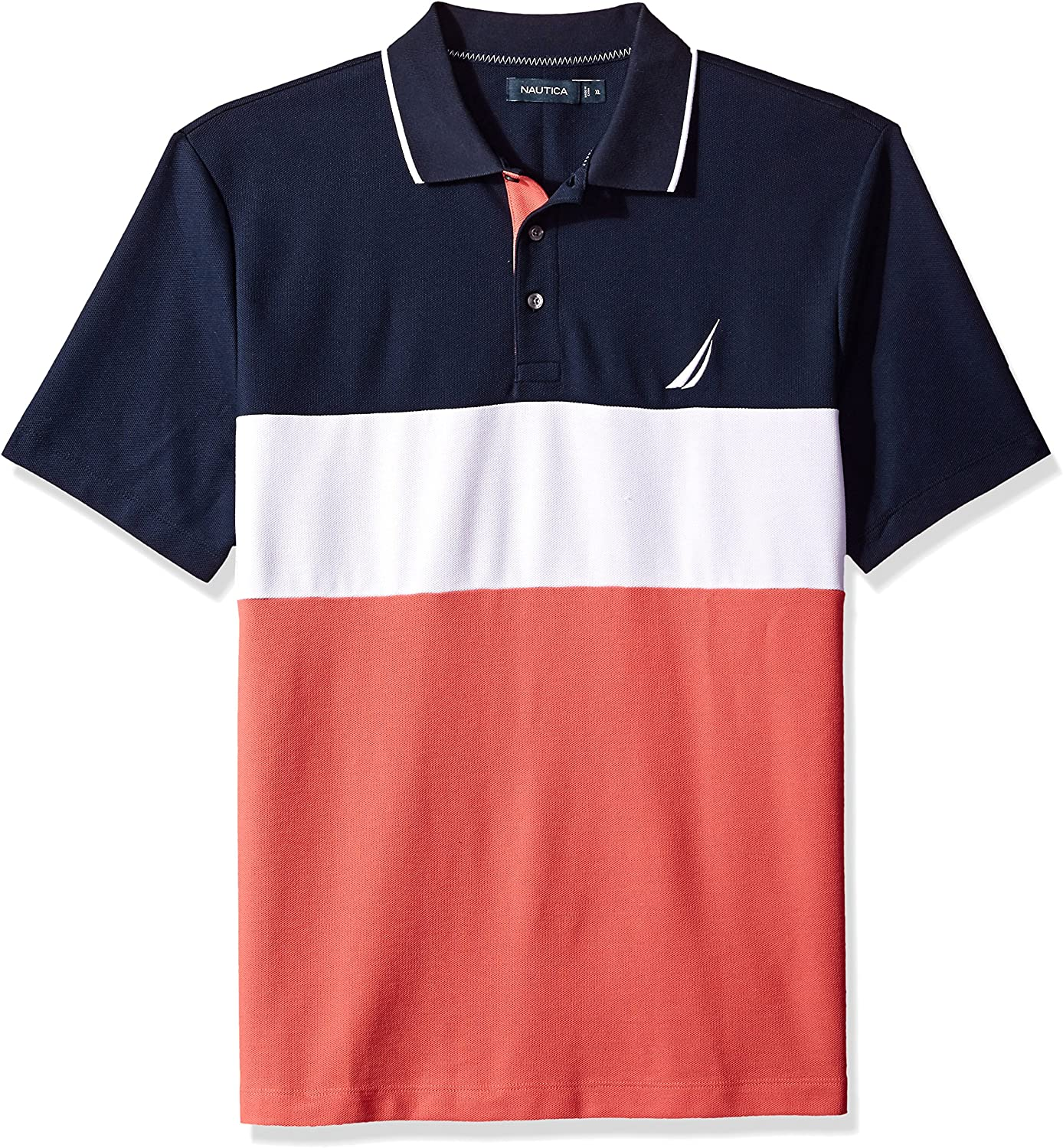 Nautica Hombres Classic Fit Short Sleeve Heritage Logo Polo Shirt ...