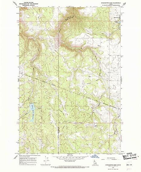 Winchester Idaho Map.Amazon Com Yellowmaps Winchester West Id Topo Map 1 24000 Scale