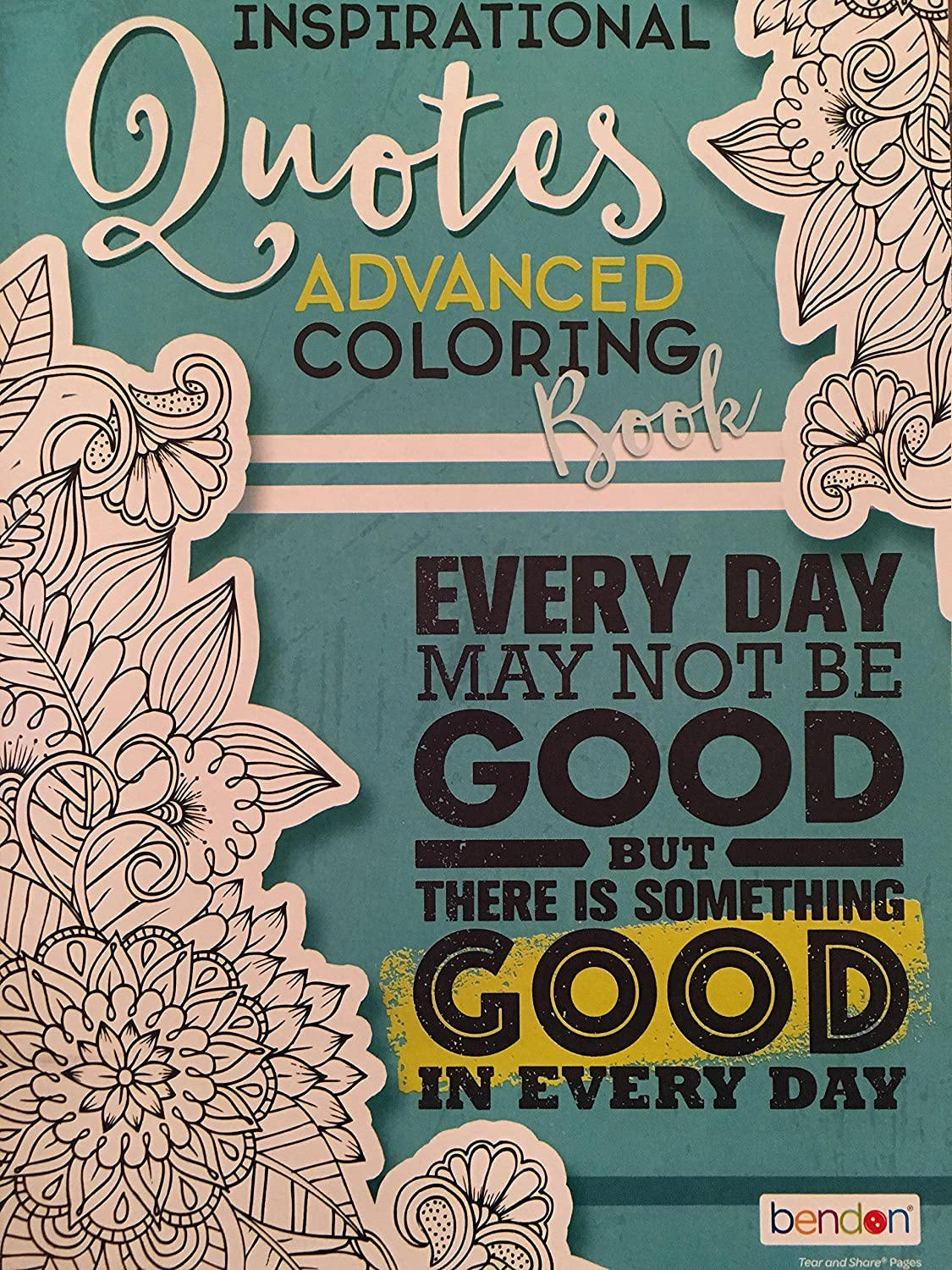 Bendon Adult Coloring Book Inspirational Quotes Advanced Coloring