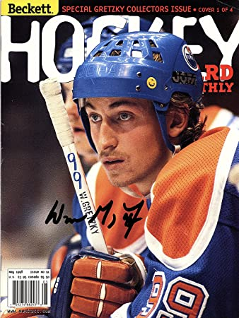 Image Unavailable. Image not available for. Color  WAYNE GRETZKY Autographed  Hand SIGNED BECKETT MAGAZINE ... e0b64e1ab