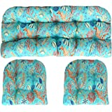 RSH DECOR Set of 2 in Outdoor Lumbar//Rectanglar Decorative Throw Pillows ~ Blue Red ~ Ocean Life ~ Coastal ~ Coral Reef Cream White Coral Peach Orange