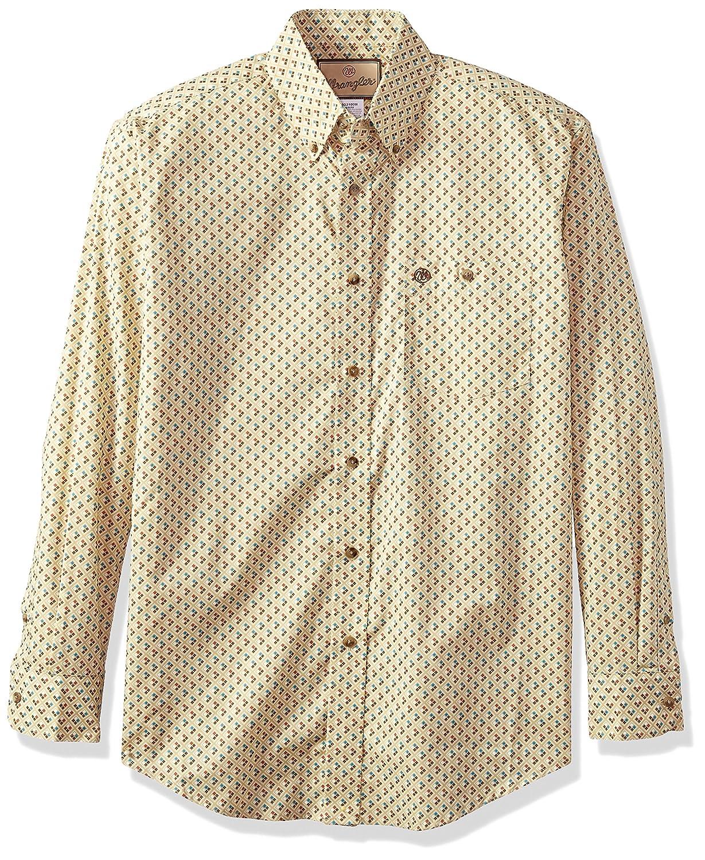 Wrangler Men/'s Western Classic One Pocket Long Sleeve Shirt